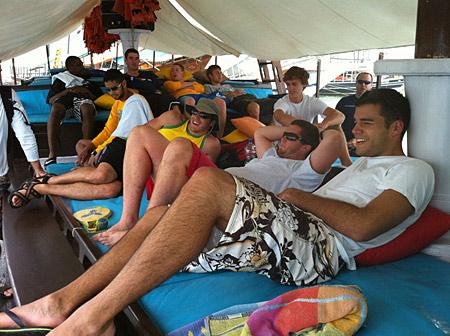Case on a boat in Paraty, Brazil